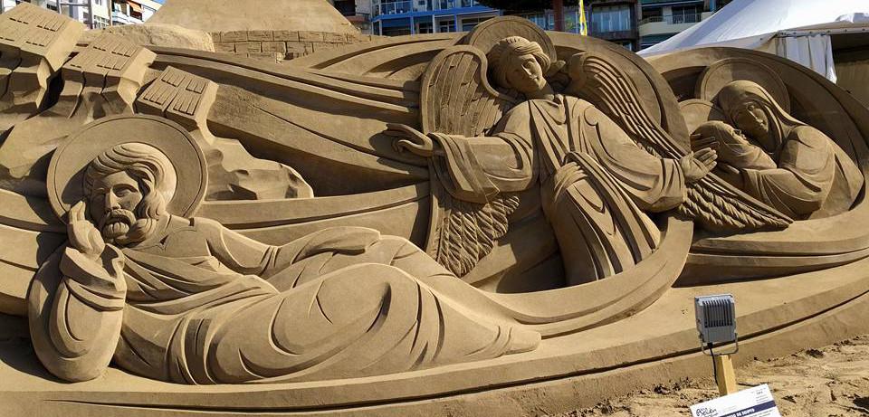 Foto Zandsculptuur in Las Palmas door Denise Hilhorst